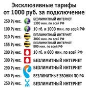 Безлимитный 4G интернет,  эксклюзивные тарифы,  модемы
